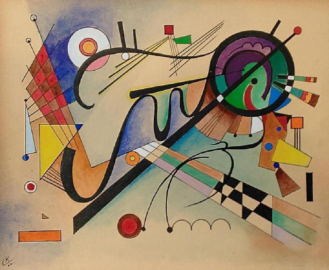 Vassily Kandinsky (attrib.) Mixed Media On Paper