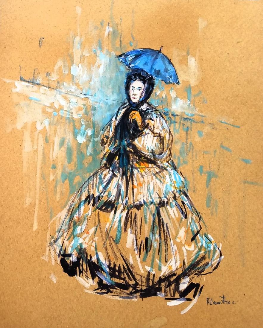 Lautrec color pastel on paper