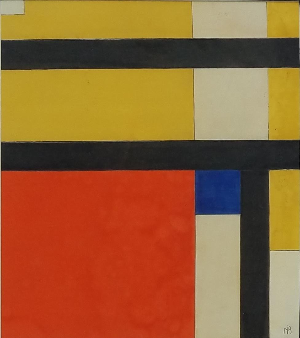 attributed to Piet  Mondrian gouache on paper - 2