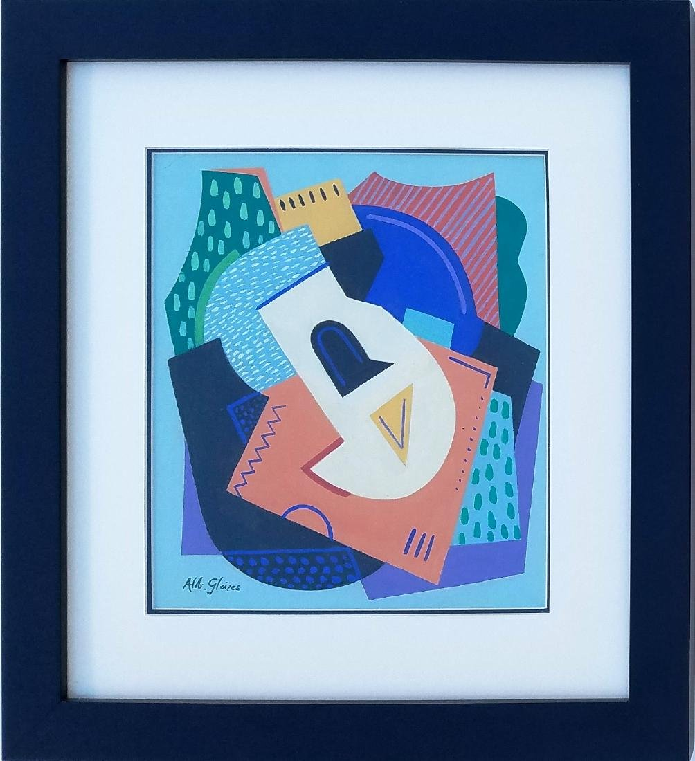 signed ALBERT GLEIZES mixed media on paper
