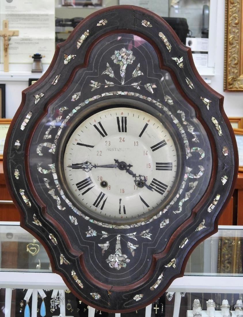 MANTANGERAND ANTIQUE WOOD WALL CLOCK