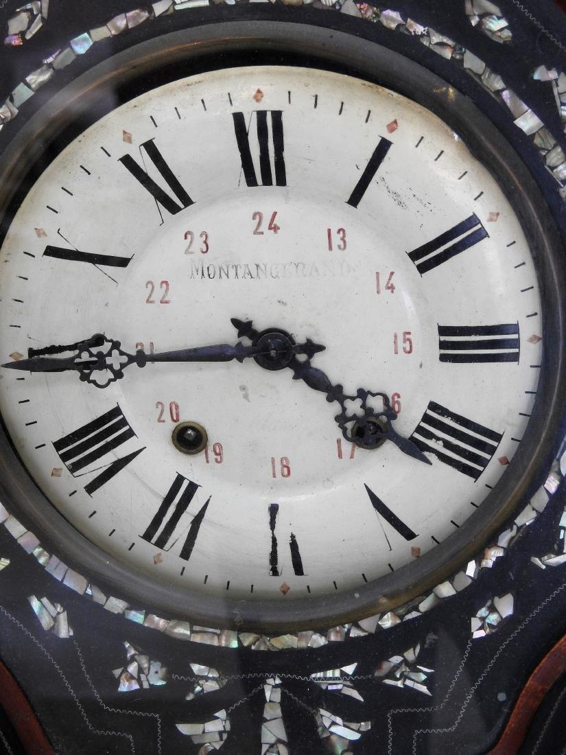 MANTANGERAND ANTIQUE WOOD WALL CLOCK - 2