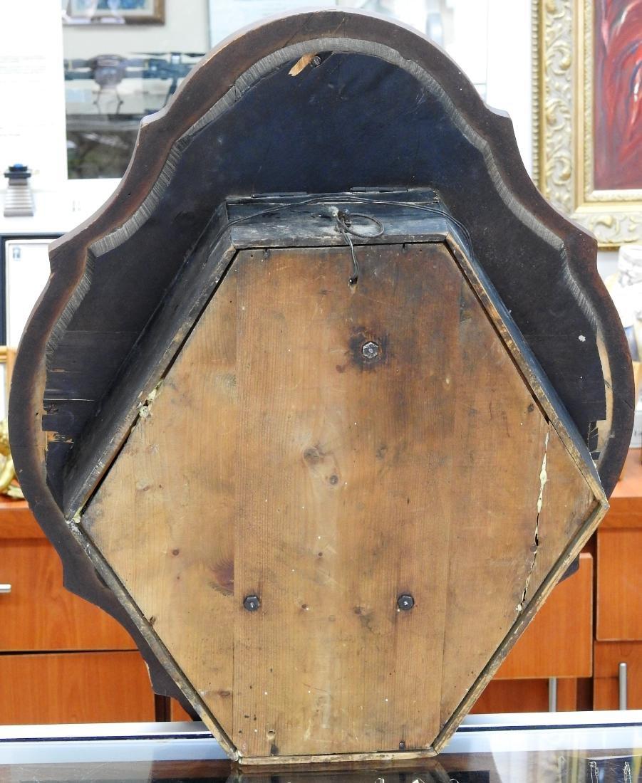 MANTANGERAND ANTIQUE WOOD WALL CLOCK - 3