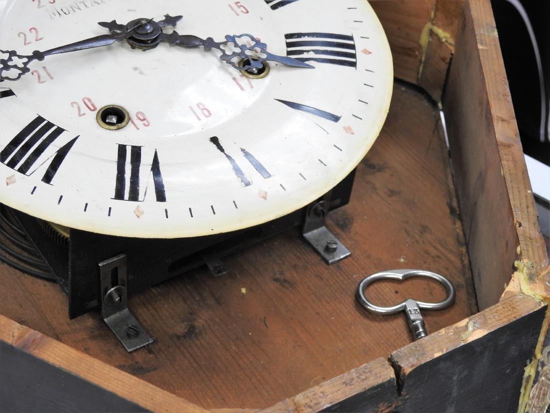MANTANGERAND ANTIQUE WOOD WALL CLOCK - 5