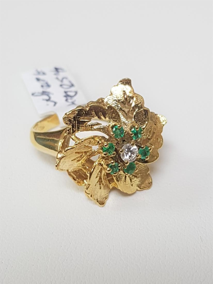LARGE EMERALD DIAMOND RING - 2