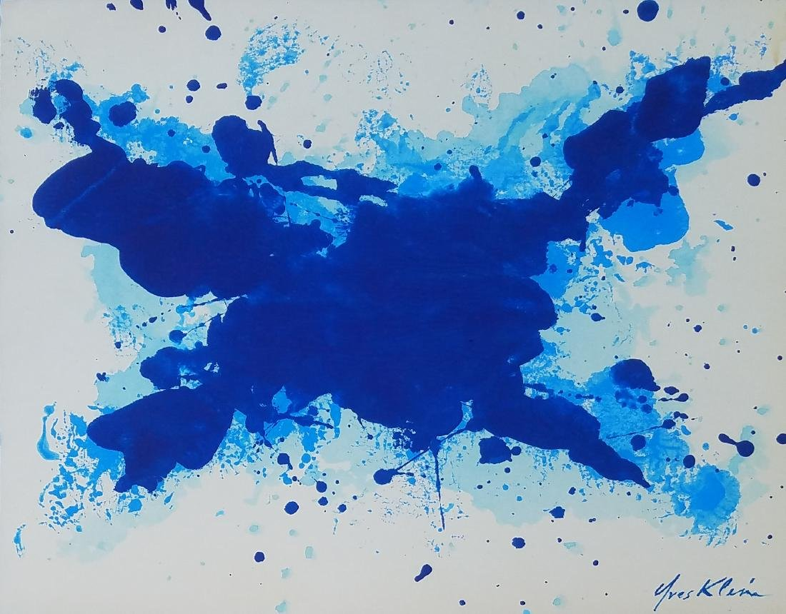 INK ON PAPER SIGNED YVES KLEIN