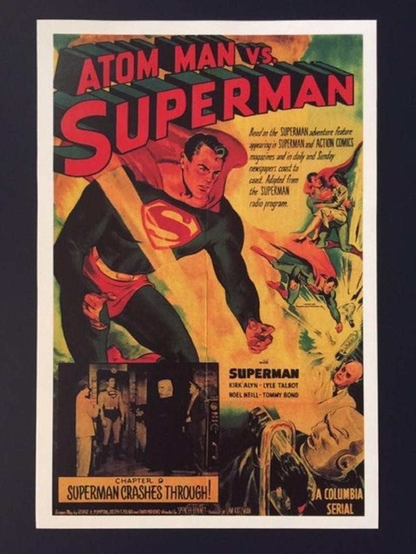 SUPERMAN vs. ATOM MAN Movie Lobby Card Poster