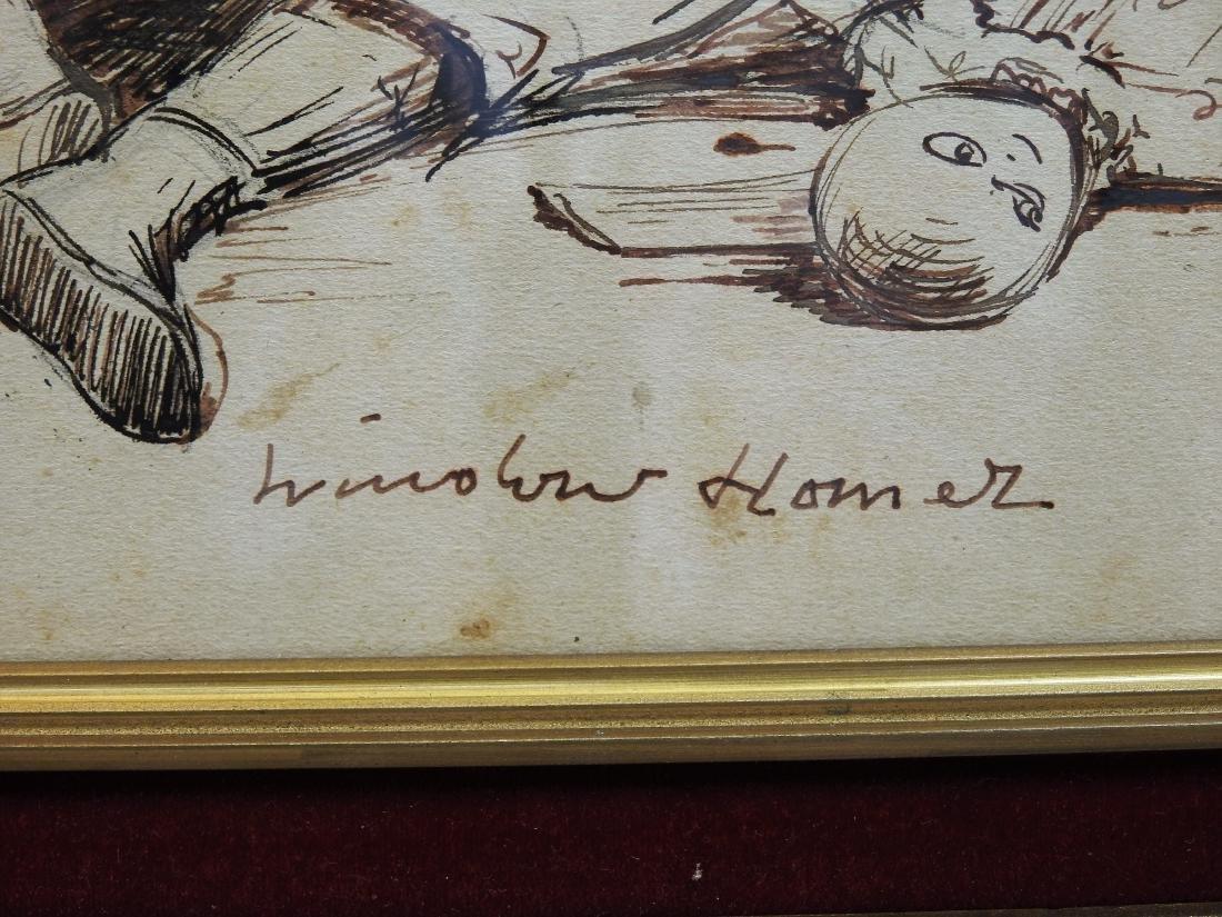 INK ON PAPER SIGNED WINSLOW HOMER - 2