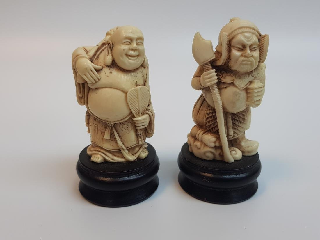 ANTIQUE CHINESE RESIN WISE MEN