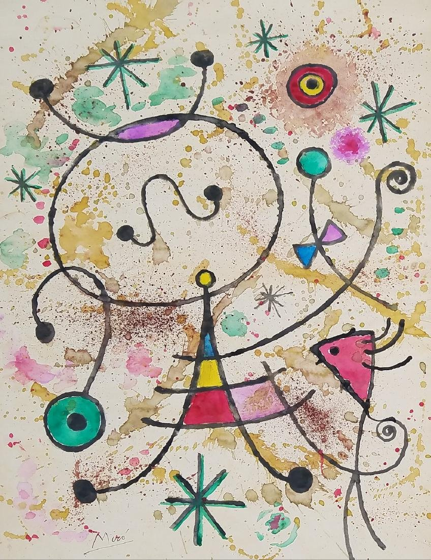 MIRO GOUACHE AND INK ON PAPER