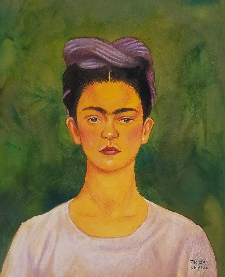 WATERCOLOR ON PAPER SIGNED FRIDA KHALO