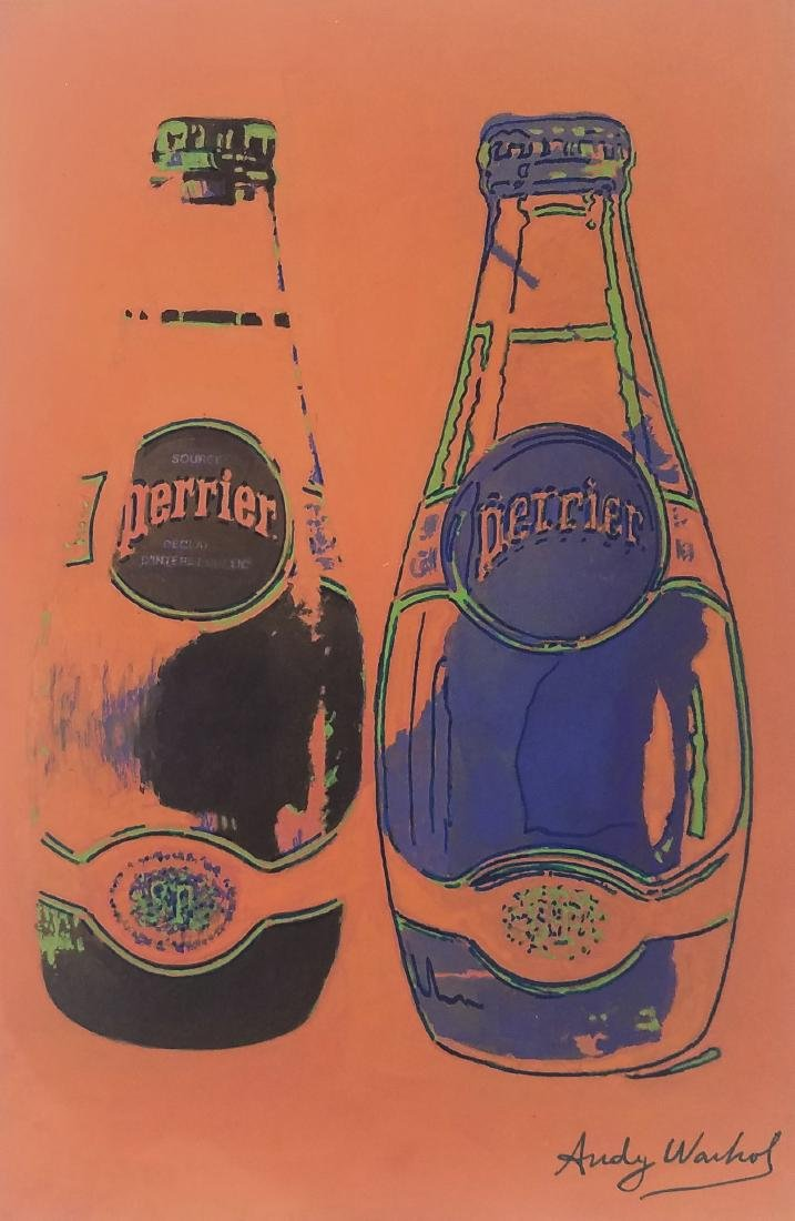 GOUACHE ON PAPER SIGNED ANDY WARHOL