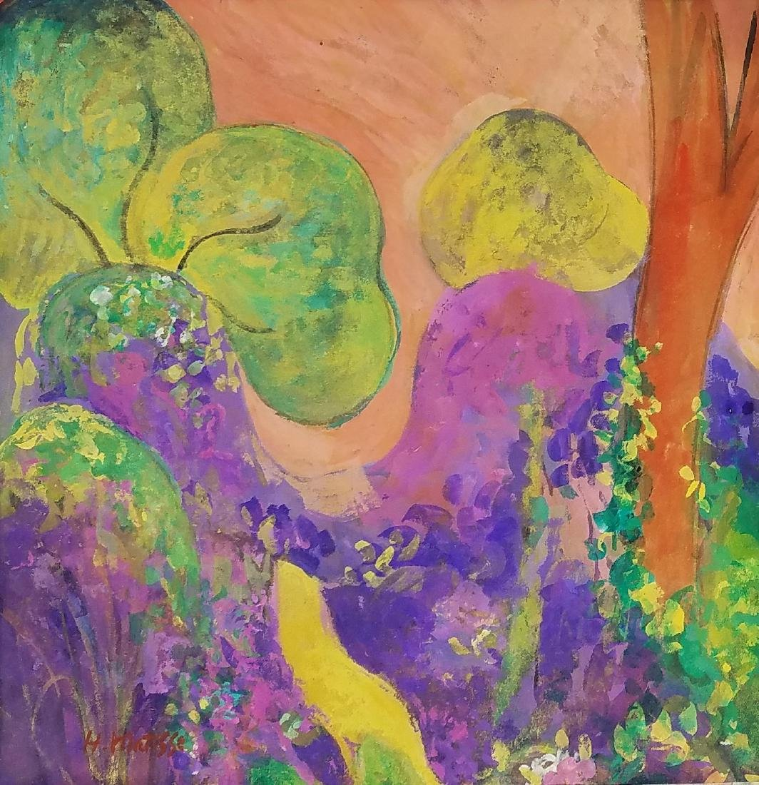 H Matisse GOUACHE ON PAPER