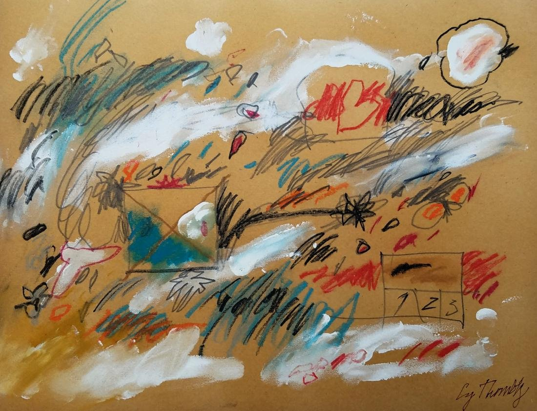 MIXED MEDIA ON PAPER SIGNED Cy Twombly