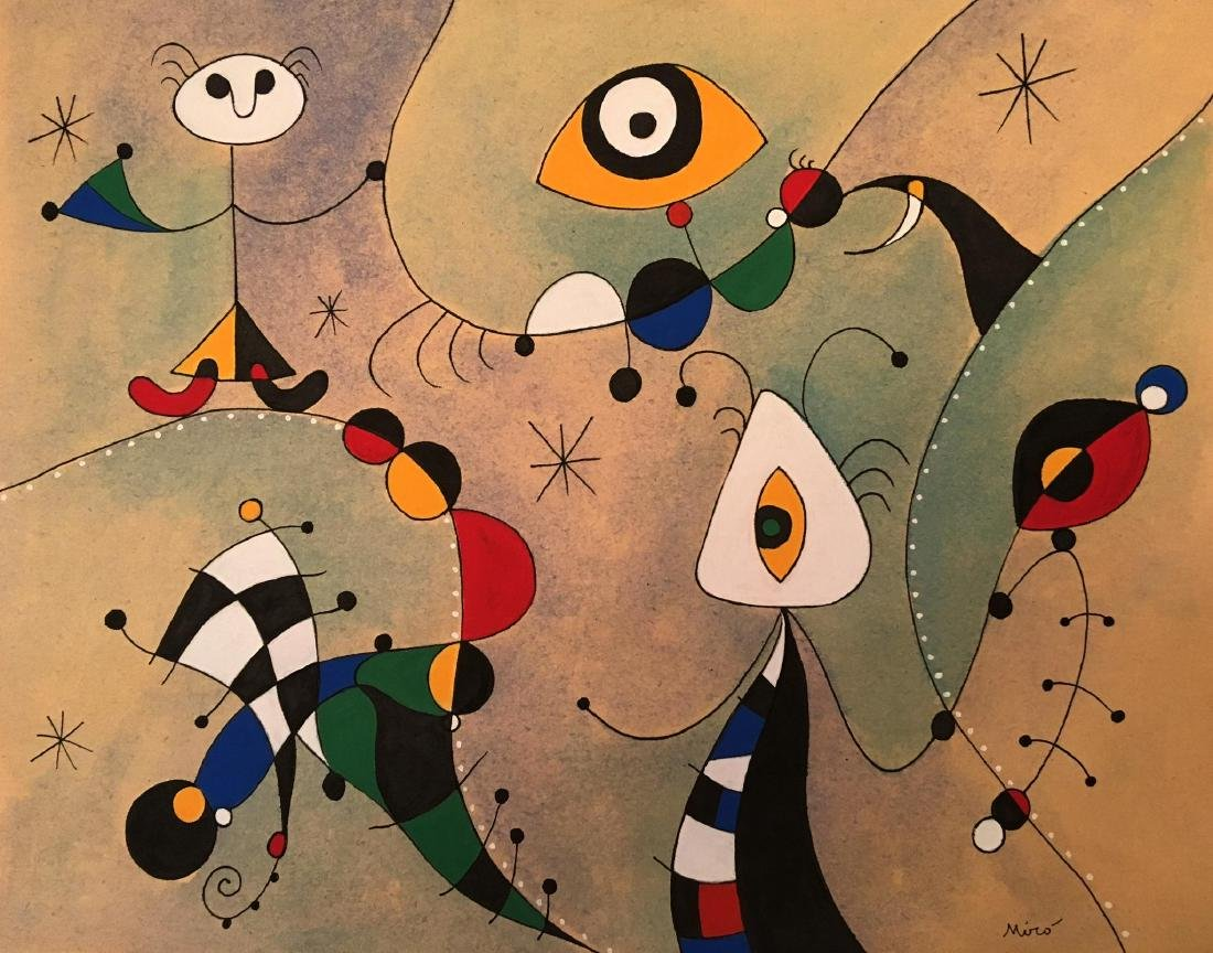 MIRO GOUACHE AND INK ON PPER