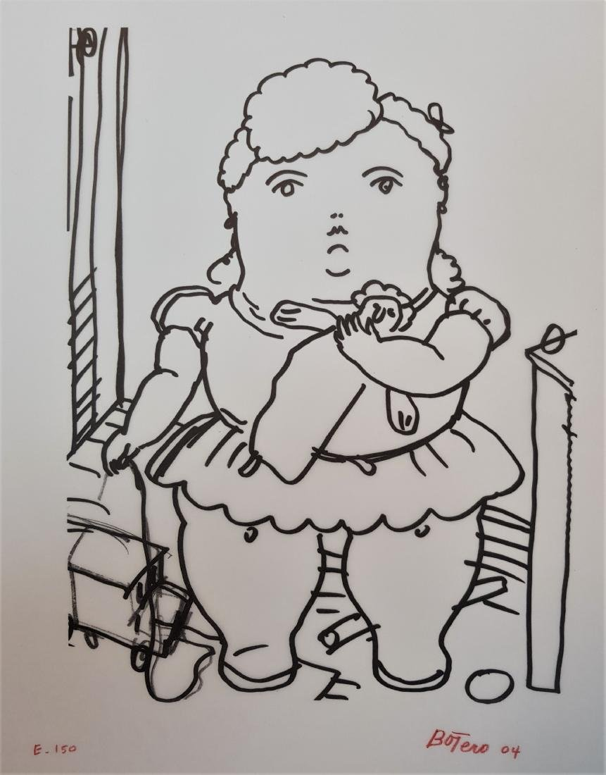 FERNANDO BOTERO INK ON PARCHMENT PAPER