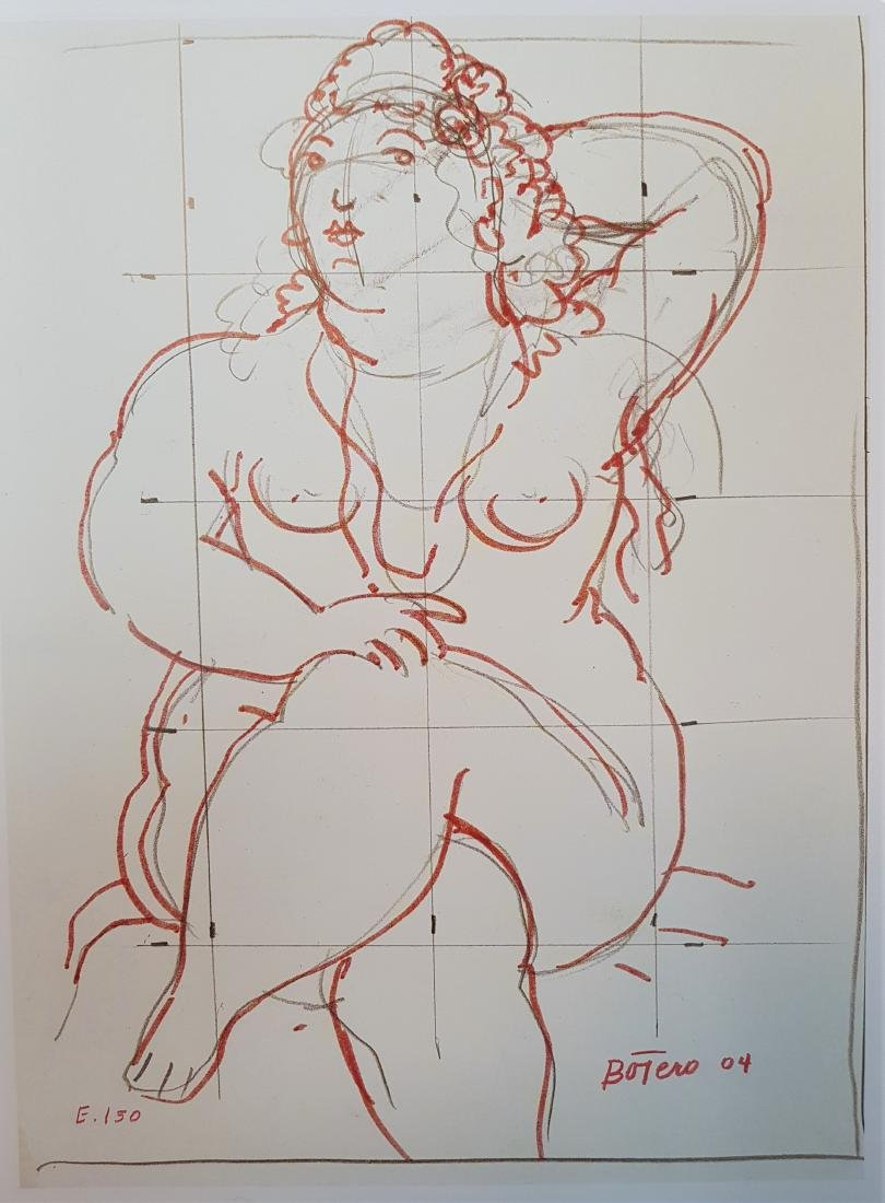 FERNANDO BOTERO INK ON SPECIAL PAPER