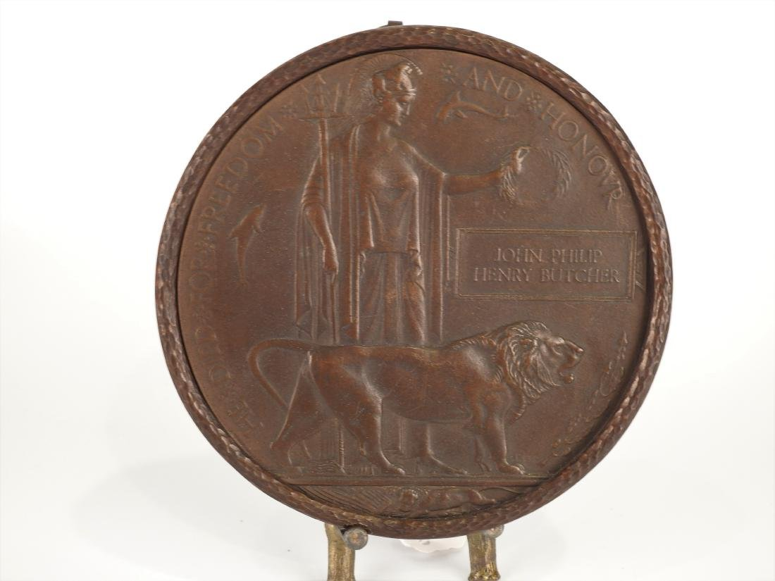 JOHN PHILIP HENRY BUTCHER BRONZE WALL PLAQUE