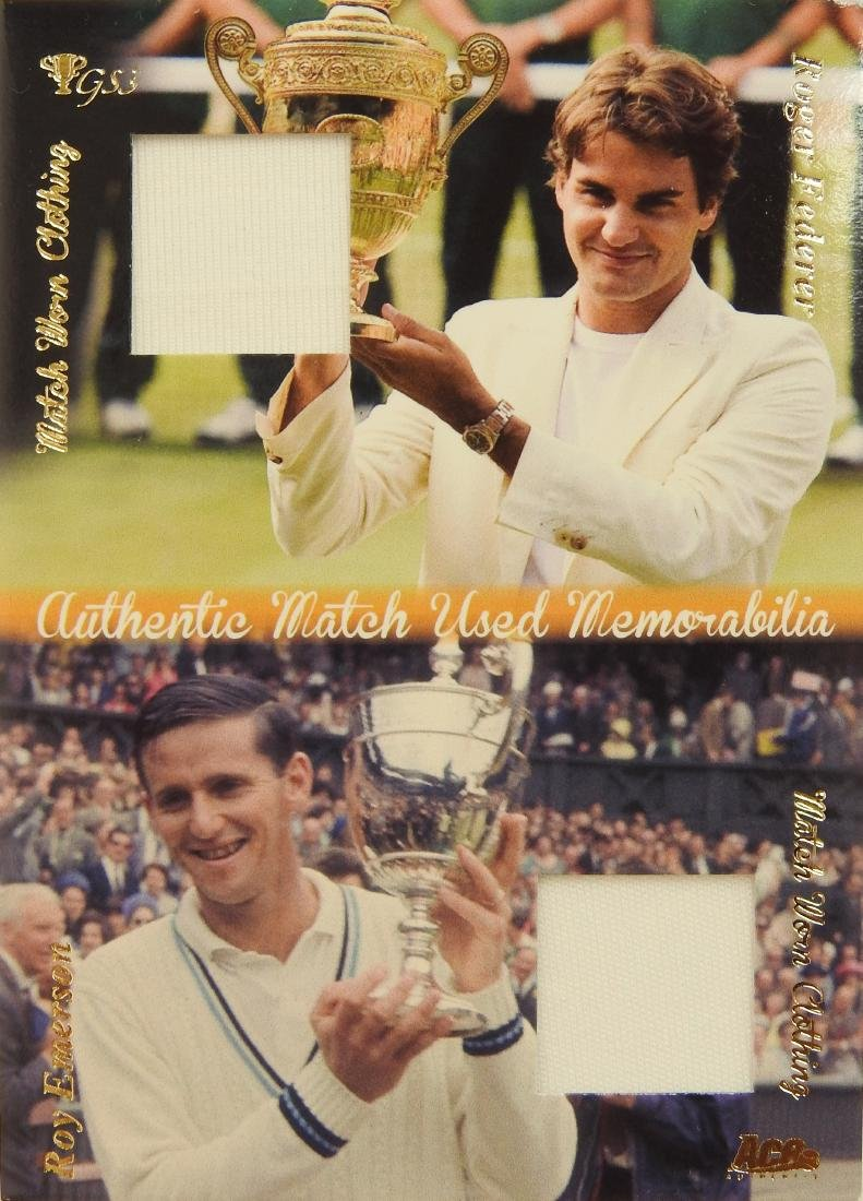 Roger Federer Roy Emerson Memorabilia