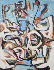 Hans HOFMANN (ATTRIB) (1880-1966) ACRYLIC ON CANVAS