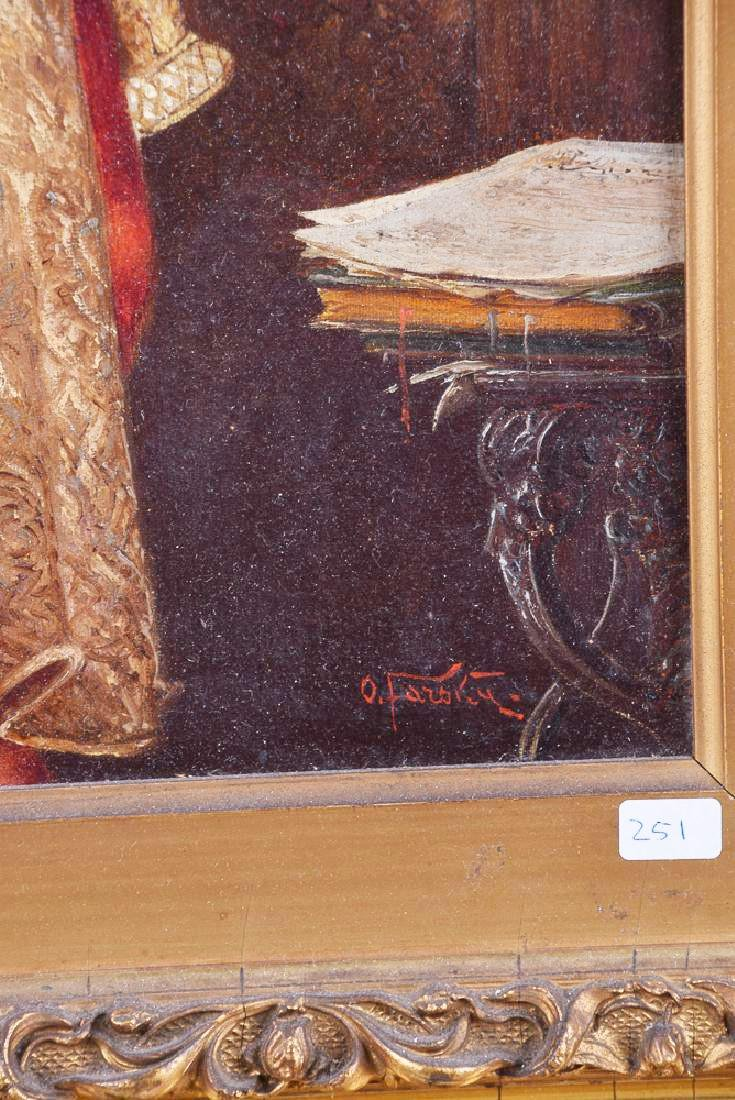 Otto Farsky (1895-1968) signed antique oil on canvas - 3
