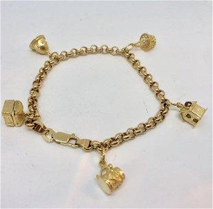 7315431bd8bae For Auction: Sterling vintage charm bracelet (#255) on Aug 09, 2019 ...