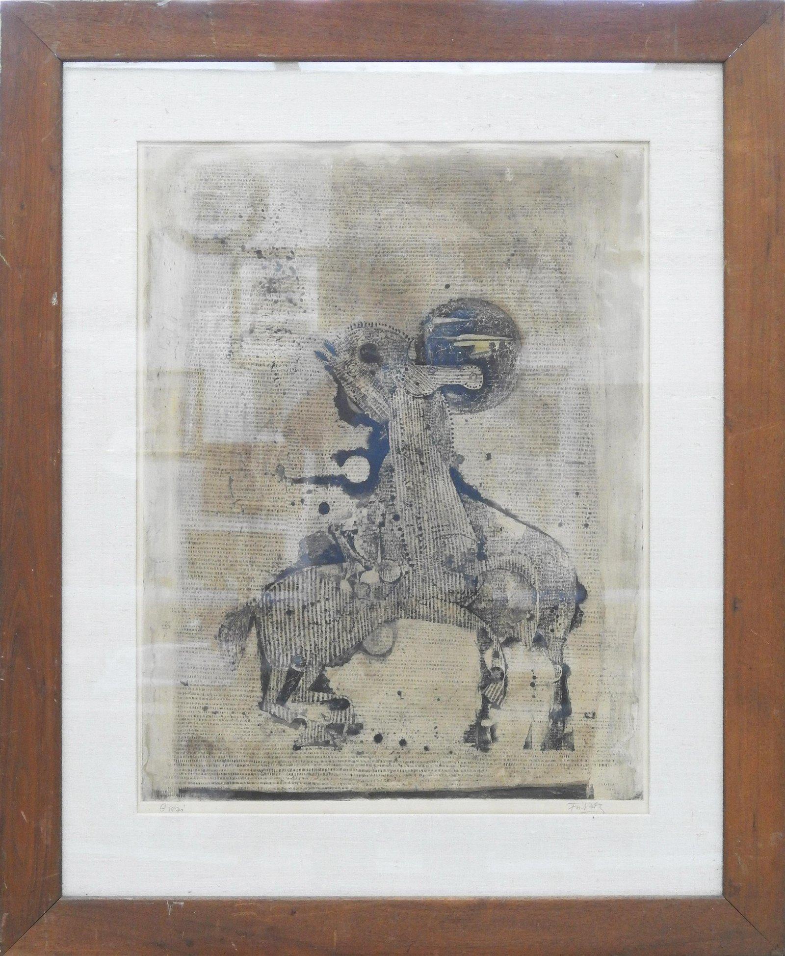 Johnny Friedlander etching with aquatint