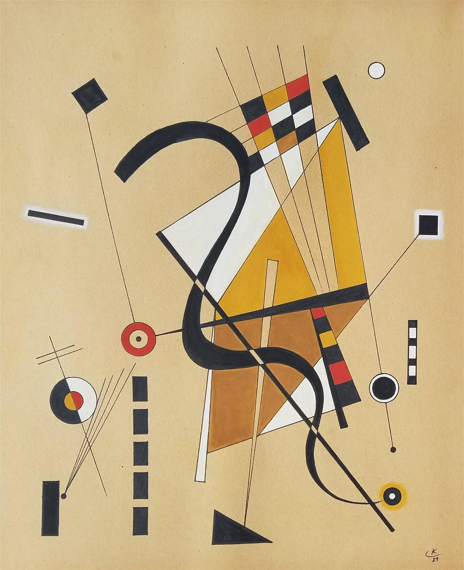 Wassily Kandinsky (attrib.) MIXED MEDIA ON PAPER