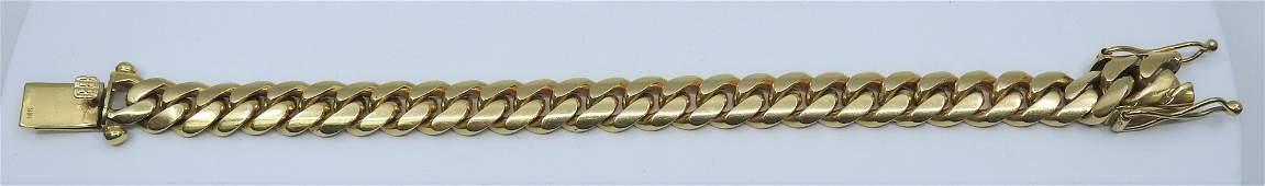 CUBAN LINK BRACELET 14K YELLOW GOLD
