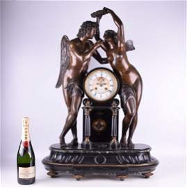 TIFFANY & CO FRENCH BRONZE MANTLE CLOCK