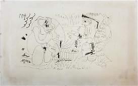 """Pablo PICASSO (1881-1973) """"Los Comensales"""""""