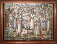 """JOSE MARIA MIJARES (1921-2004) """"GENTE DE PUERTO 1942"""""""