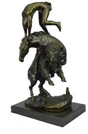 Remington Buffal Horse Sculpture