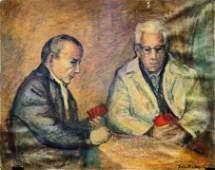 Felix Muller oil on canvas board