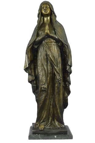 Madonna Mary Bible Bronze Decoration