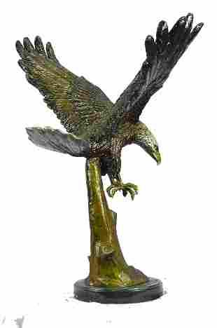 Patina Eagle Bronze Sculpture