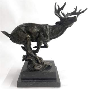 Milo Bulk Hunting Bronze Sculpture