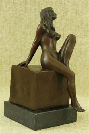 Milo Erotic Woman Bronze Sculpture
