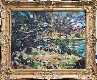 Unknown Artist oil on canvas (landscape)