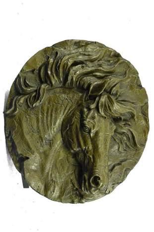 Barye Horse Bust Bronze Statue
