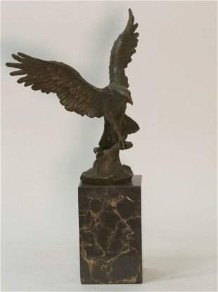 Milo Flying Eagle Bronze Sculpture