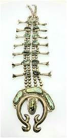 Native American Sterling Silver Squash Blossom Necklace