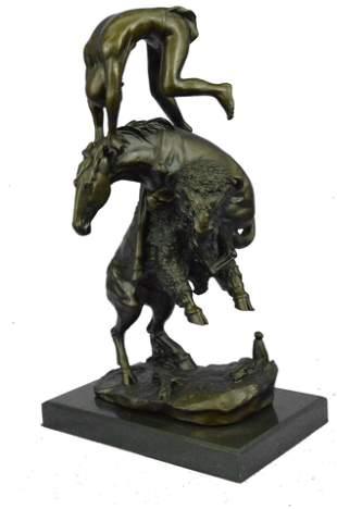 Remington Buffalo Horse Sculpture