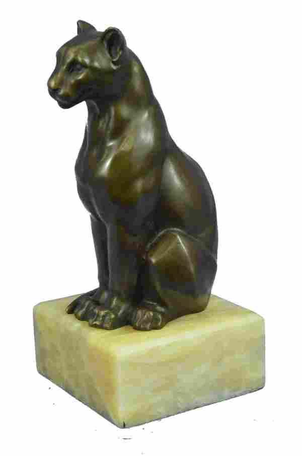 H.Moore Cougar Bronze Statue
