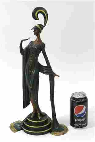 J.ERTE Art deco Female Bronze