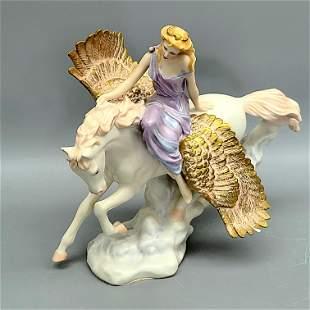 "The Franklin Mint ""Athene and Pegasus"" Porcelain"