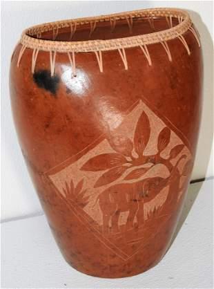 Antique African Pottery Terracotta Vase
