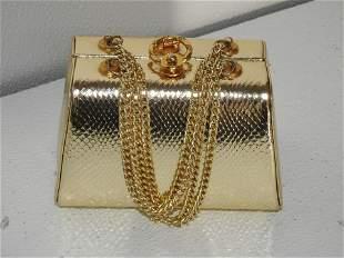 Vintage Ladies Gold Purse