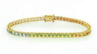 10k YG Multi Stone Bracelet