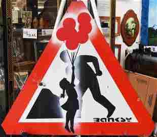Banksy Metal Traffic sign
